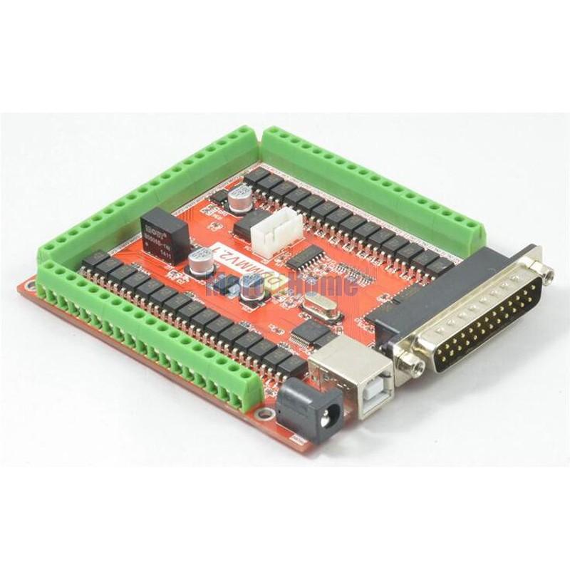 CNC 6 Axis USB LPT Mach3 Breakout Board Kit w/ Manual