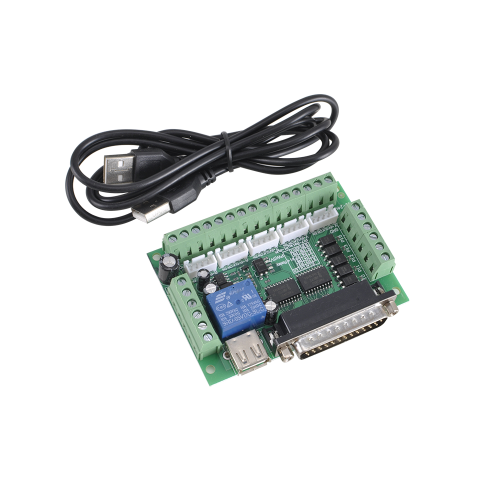 USB Cable C#P5 Mach3 CNC Stepping Motor Driver Interface Adapter Breakout Board