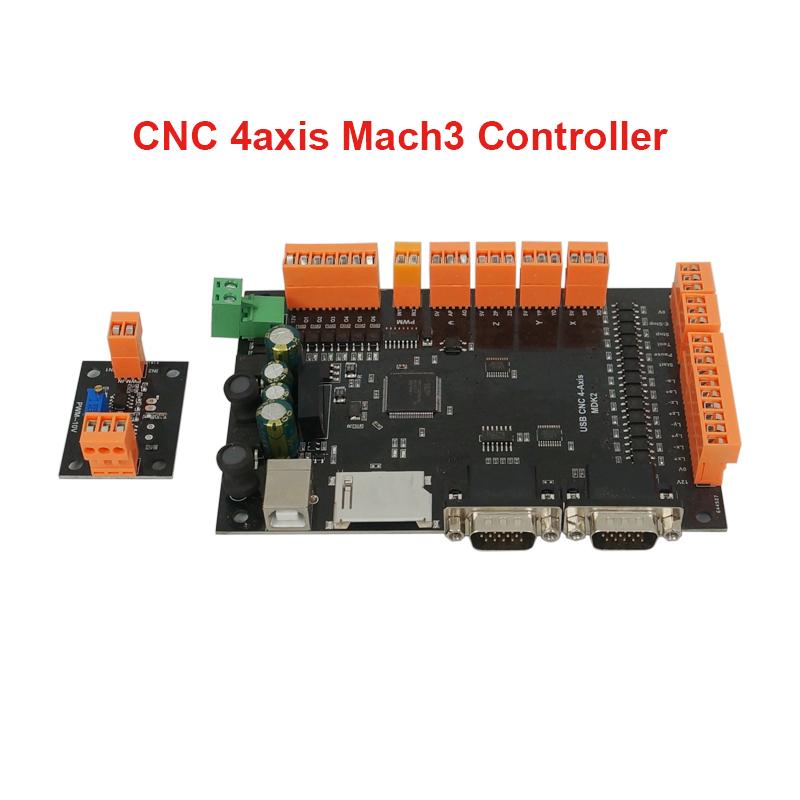 100khz Mdk2 4 Axis Usb Mach3 Cnc Motion Controller Board